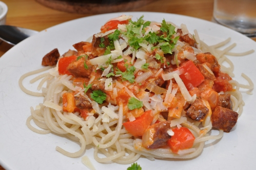 pasta med chorizo