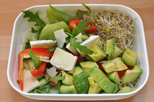 salat med brie og avacodo