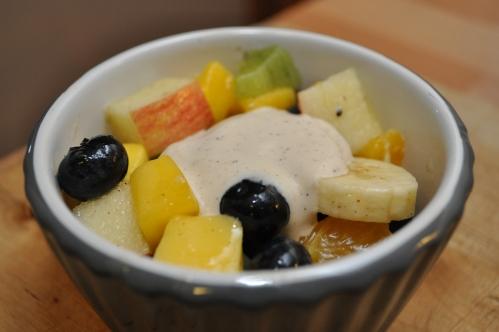 fruktsalat med olje og eddik fra Oliviers & Co
