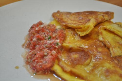 bananomelett med salsa